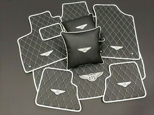 Bentley GTC, GT, Custom Leather Floor mats, trunk, pillows