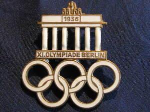 orig. old German  pin  Olympic Games 1936