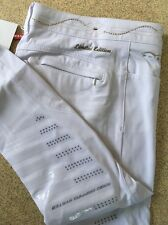 Animo Breeches with swarovski Crystals Limited Edition White i-38 UK6 Brand New