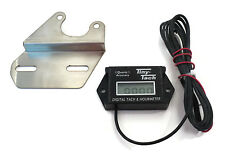Tiny Tach TT2B Digital Hour Meter Tachometer w/ Bracket Gas Spark Engine Motor