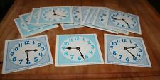 Ideal school supply Lot - Time teaching Clock with moveable Dial - Teacher