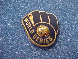 1982 Milwaukee Brewers RARE American League Champions Media Press Pin