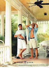PUBLICITE ADVERTISING 094  1998  GANT   pret à porter chemises bermudas homme