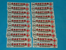 20 Battery tray polarity stickers for 18650 26650 sled tray holders +/- positive