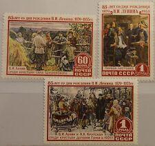 RUSSIA SOWJETUNION 1955 1756-58 1753-55 85 Geb. W. Lenin Kommunist Politiker MNH