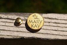 Mary Kay Cosmetics Gold Tone Metal Lapel Pin Pinback Brooch Rose Flower Logo