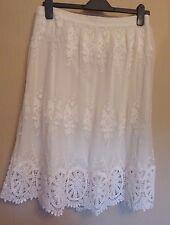Marks & Spencer Indigo UK12 EU40 US8 ivory lace lined pull-on skirt