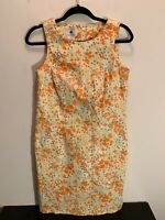 Classics by Eileen West Dress Sz 6 Cotton Blend Sleeveless Lined Floral Vintage