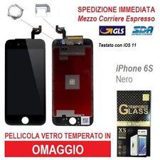 TOUCH SCREEN LCD RETINA DISPLAY FRAME VETRO SCHERMO PER APPLE IPHONE 6S NERO