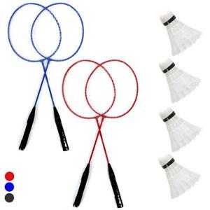 10 Pc Badminton Set Recreational 4 Rackets 4 Shuttlecocks Net Case Outdoors Game