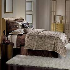 Jennifer Lopez Desert Luxe 4-Piece Queen Comforter Set ONLY! Taupe Jacquard Poly