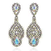 Drop AB White Austrian Crystal Rhinestone Chandelier Dangle Earring Prom E114ab