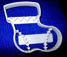 Christmas Xmas Stocking Cookie Cutter Biscuit Santa Zig Zag Sock Festive Clothes