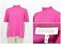 Womens Escada Wool Cashmere Silk Pink Jumper Sweater Vintage Size 44 / UK18