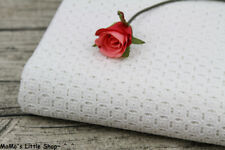 """Beautiful White Cutwork Embroidered Cotton Eyelet Lace Fabric (55"""" Width) —— ½ M"""