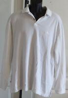 Mens Tommy Bahama White Henley Pullover Shirt Long Sleeve Sailfish Logo XL