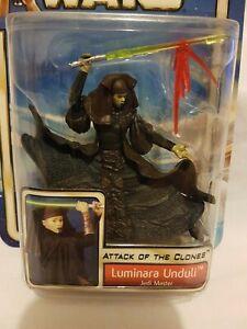 Luminara Unduli Jedi Master Star Wars Attack Of The Clones Figure Hasbro 2002