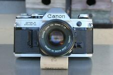 Canon AE-1 35mm SLR Film Camera with Canon FD 50mm F1.8 Lens