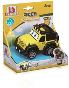 Burago Yellow Car Jeep Lights & Sounds Baby Toy +12 months