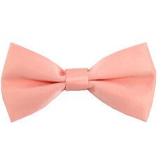 Pre Tied Light Peach Floral Boys Bow Tie Pocket Square Set Kids Tie Childrens