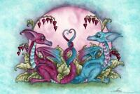Love Dragons by Amy Brown Art Print Poster 24x36 inch