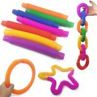 5PCS Kids Fidget Toys Autism Sensory Tubes ADHD Stress Relief Educational HOT