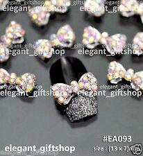 #EA093 10pcs Alloy Jewelry AB Glitter Rhinestones Bow Tie Nail Art Decoration