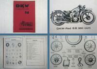 DKW Rad SB 350 ccm Ersatzteilliste Ersatzteilkatalog ca 1934
