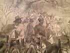 Baggage Train Print 1895 Civil War Frank Leslie illustrated