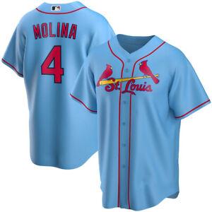 Men's St. Louis Cardinals Yadier Molina Light Blue Baseball Jersey All Size