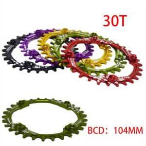 SNAIL Bike 30T Round Chainring BCD 104mm Narrow Wide Circle Crankset Plate New