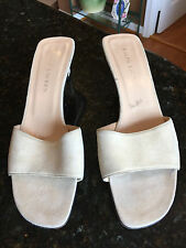 Ralph Lauren, Womens Off White (Light Beige) Heels Mules Slides Shoes, Size 9.5