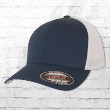 Flexfit Mesh Trucker Baseball Cap S/m Navyblau weiß