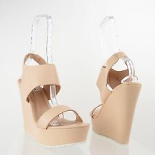 Men's Steve Madden Tabor Shoes Beige Nude Synthetic Wedge Sandals Size 11 M NEW!