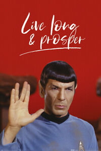 (406) STAR TREK SPOCK LIVE LONG AND PROSPER MAXI POSTER NEW WALL HANGING