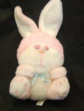 "Blushers Bunny Mighty Star Pink 10""  Sleeping Eyes Stuffed Plush Toy Vintage"