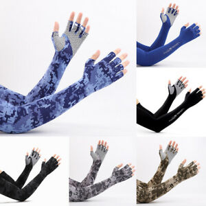 1Pair Unisex Cooling Arm Sleeves Cover Camouflage Sport Quick Dry Sun Protection