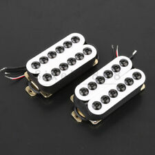 Ceramic Magnet Electric Guitar Pickup Humbucker N & B Invader Style  White