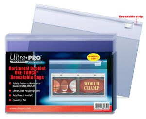 1 Pack of 50 Ultra Pro Horizontal Booklet One Touch Resealable Bags #84170