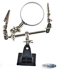 Dritte Hand mit Lupe McVoice, 2-fache Vergrößerung, Löthilfe Löten Lötstation