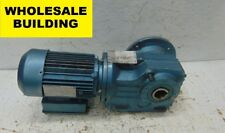 SEW-EURODRIVE, MOTOR & GEAR REDUCER DFT80N4-KS, 1HP, 1700 RPM, 3PH, RIGHT ANGLE