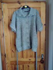 Women's grey short sleeve cardigan size  16