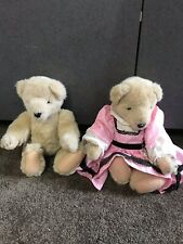 """lot of 2 Muffy VanderBear 13"""" tall cute bear pink dress"""