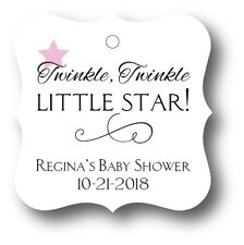 24 Twinkle Twinkle Little  Star Baby Girl Shower Favor Tag Personalized