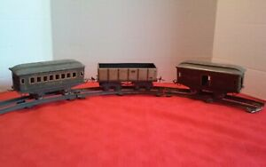 Vintage Lot of 3 Ive's Trains O-Guage Straight Curve Track Metal Plate Stands