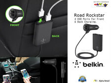 Orginal Belkin Car Charger Road Rockstar 4-Port Passenger 36W 7Amp Smartphones