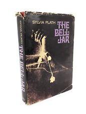 THE BELL JAR by SYLVIA PLATH 1971 Book Club Edition HC w/ DJ NOVEL DEPRESSION