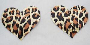 Pair Leopard Animal Print Nipple Breast Pasties Self Adhesive Reusable Burlesque