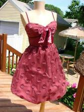 NWT BETSEY JOHNSON EVENING PLUM DOT BUBBLE DRESS~SZ 8 FROM RETAIL BJ STORE *SALE