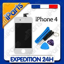 ECRAN LCD RETINA + VITRE TACTILE SUR CHASSIS POUR IPHONE 4 BLANC + OUTILS